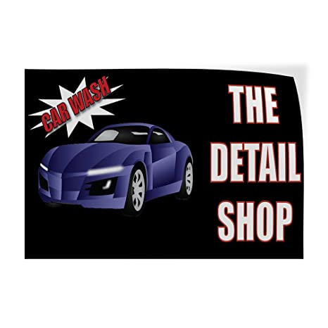 Car Detail Shops Near Me >> Amazon Com Decal Sticker Car Wash The Detail Shop