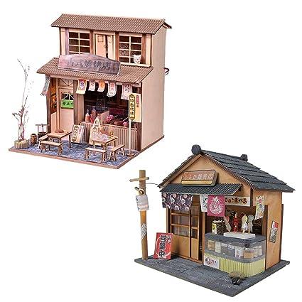 Baoblaze 2 Set 124 Diy Handcraft Miniature Project Wooden Dolls