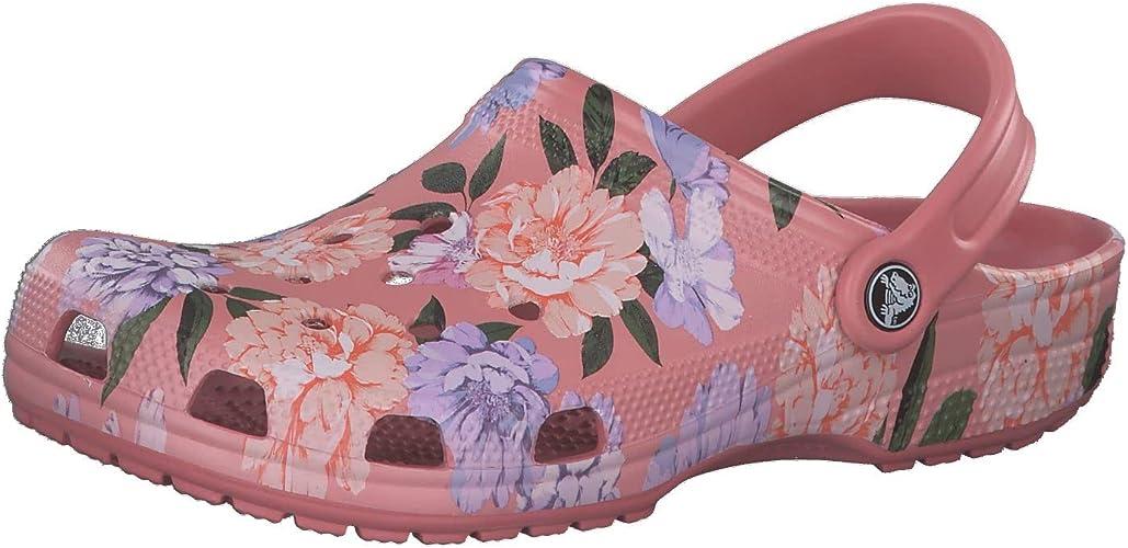 Comfortable Water Shoes Crocs Mens and Womens Seasonal Graphic Classic Clog