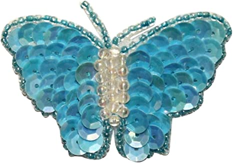 ID 2275 Butterfly Emblem Patch Garden Fairy Insect Embroidered Iron On Applique