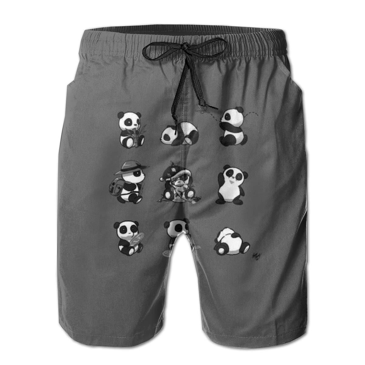 DHVJBC Mens Panad Bear Summer Holiday Quick-Drying Swim Trunks Beach Shorts Board Shorts