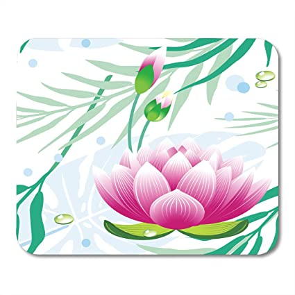 Amazon nakamela mouse pads creative lotus floral pattern nakamela mouse pads creative lotus floral pattern flower abstract blossom branch color graphic mouse mats 95quot mightylinksfo
