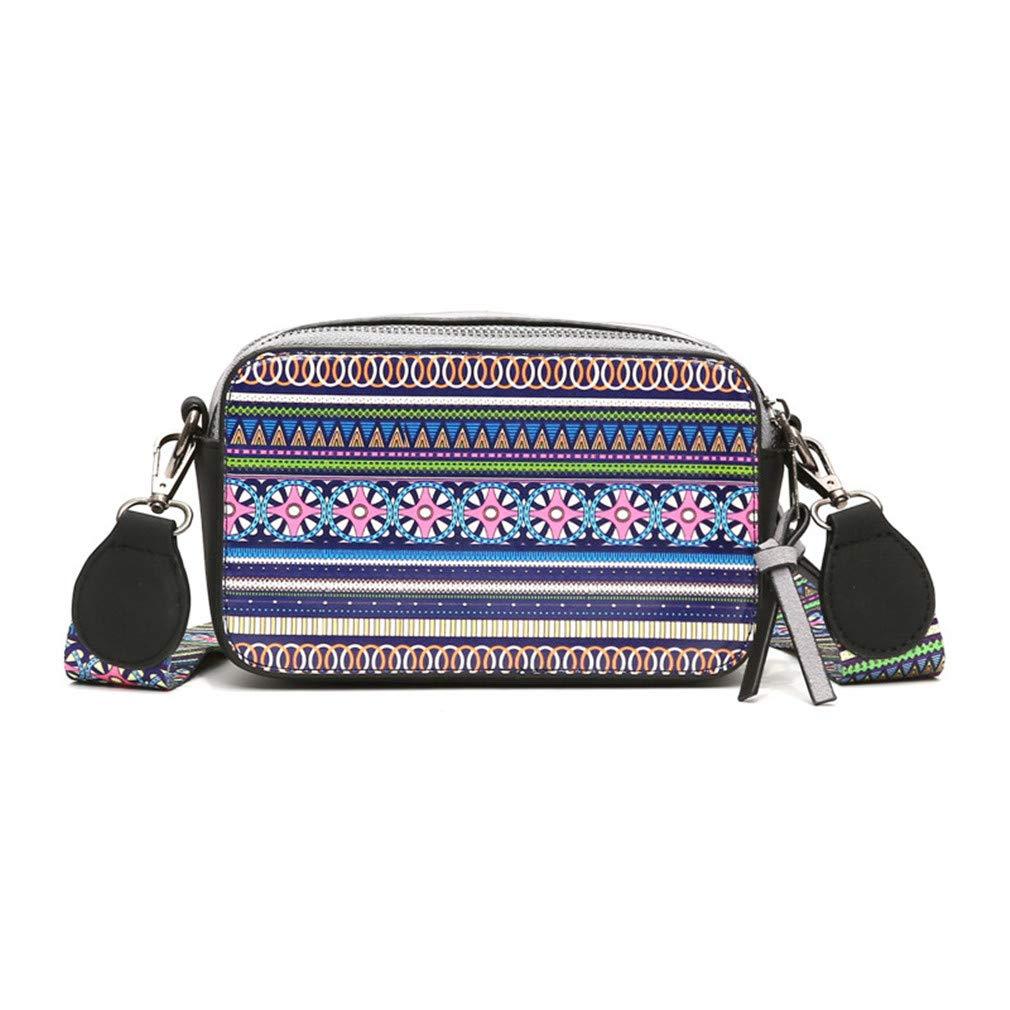 37b5e06fdcd7 Amazon.com: Cujubag Wide Strap Women Shoulder Bag Leather Messenger ...