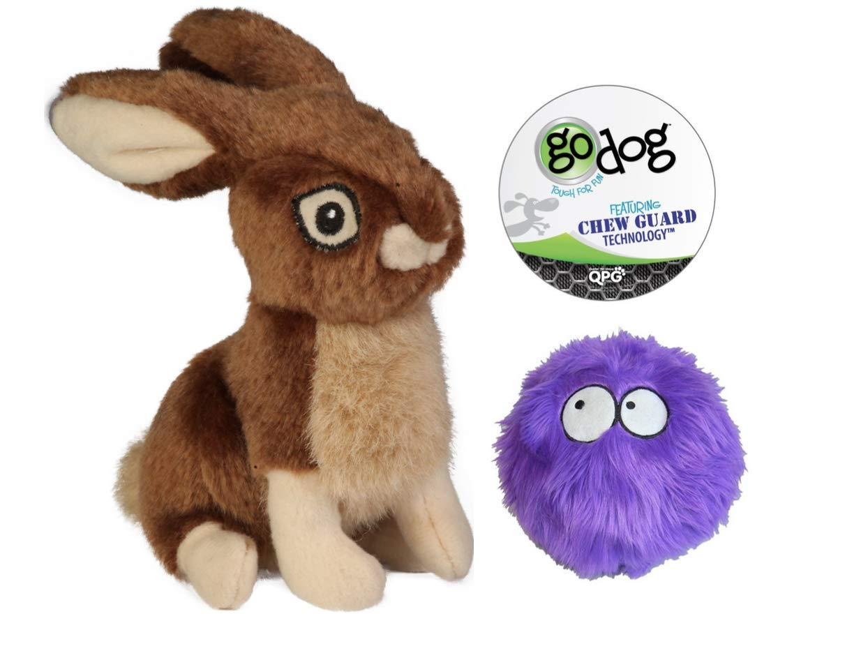 Quaker GoDog Rabbit with Chew Guard Technology Dog Toy Set Large