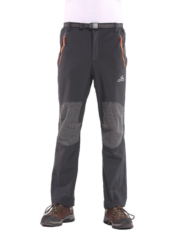 Pantalón impermeable para hombre, con forro polar, a prueba de viento, para escalada, de la marca Jimmy Design