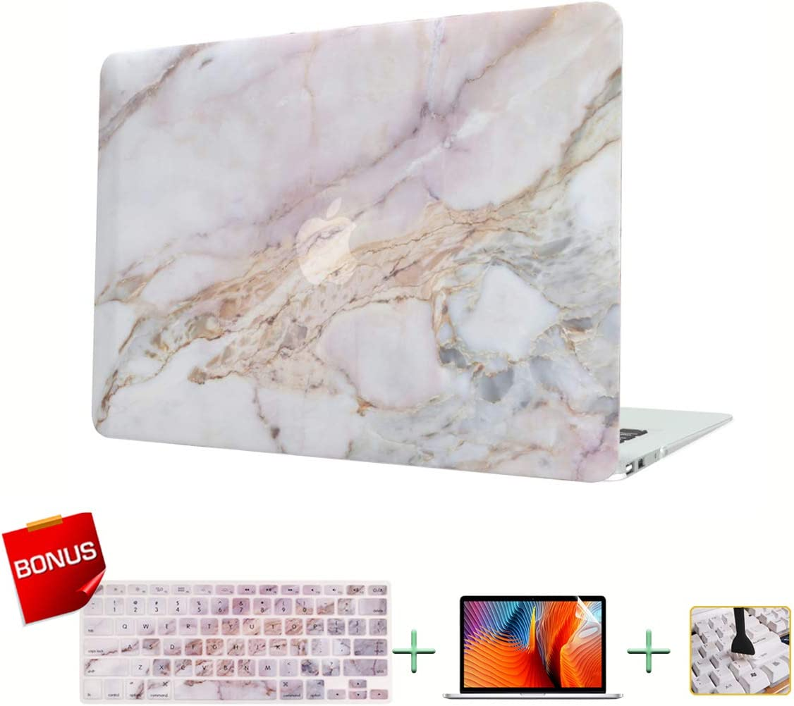 MacBook Case,Laptop Case,Marble Plastic Hard Case,Only Compatible for MacBook 12 Inches Retina Display(A1534) with Keyboard Cover,Screen Protector