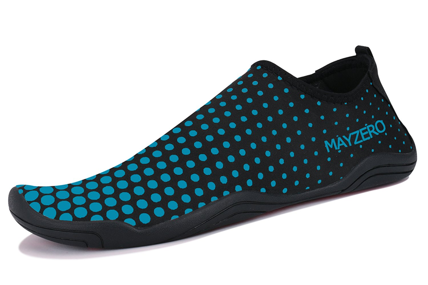WXDZ Men Women Water Sports Shoes Quick Dry Barefoot Aqua Socks Swim Shoes for Pool Beach Walking Running (10.5 US Women/9 US Men, Dot-Blue) by WXDZ (Image #1)