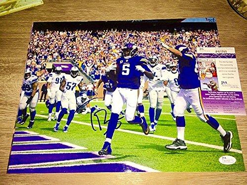 Teddy Bridgewater Hand Signed 11x14 Photo Nfl Minnesota Vikings JSA Cert Nfl Hand Signed 11x14 Photo