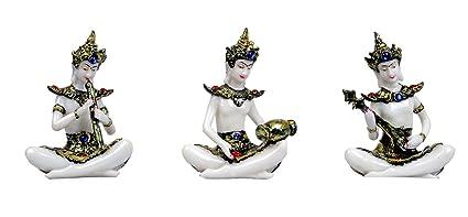 Buy KAVYA HOME DECOR Antique Artifacts Marble Base polyresin Buddha