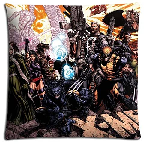 18x18 inch 45x45 cm bedding pillow cover case Cotton Polyester Finest Sleep Safe X-Men Evolution (Xmen Bed Cover)