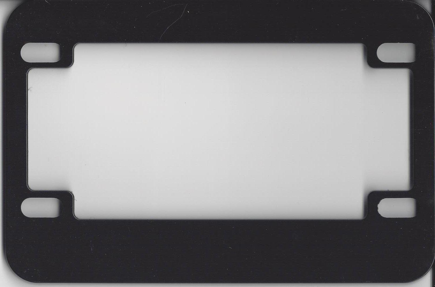 Motorcycle License Plate Frame (Blank Black Metal)