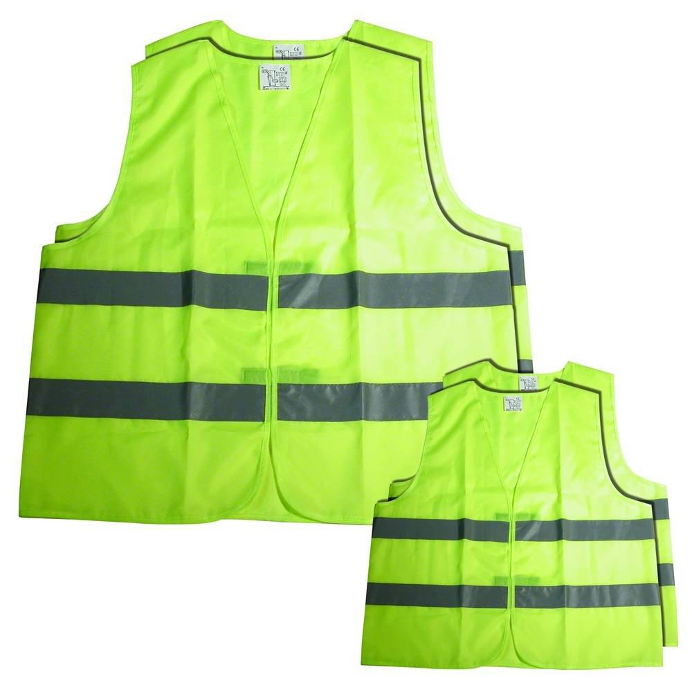 Carpoint 0114027 4-Piece High Visibility Vest set