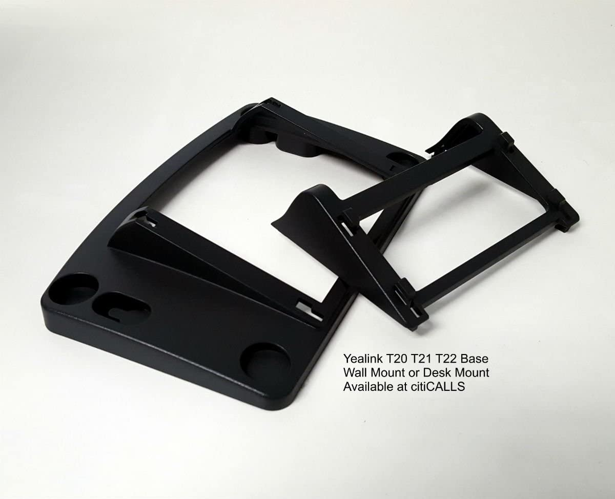 Yealink T20T22-BASE Wall//Desk Mount Bracket for T20 T20P T21 T21P T22 T22P T23P T23G IP Phone