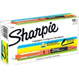 Sharpie Highlighters, Chisel Tip, Fluorescent Orange, Box of 12