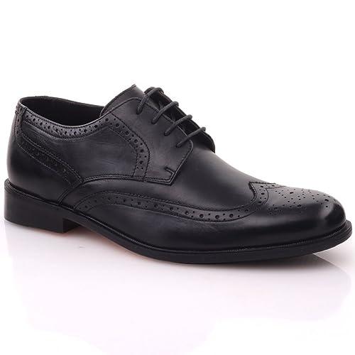 Oxford Unze Cuero Con Zapatos Cordones Plano Español Formales De ' Hombres Adama 8nntH