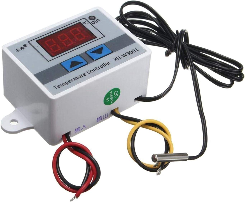 con sonda 10 A bobotron Regulador de temperatura digital LED de 220 V