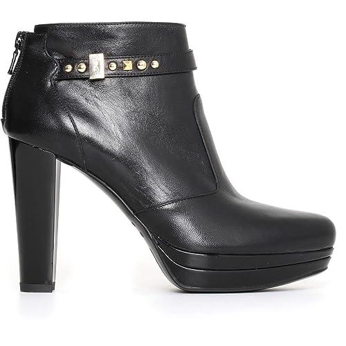 Nero Giardini donna tronchetti neri A719641D scarpe in pelle inverno 2018 6d31967d94a