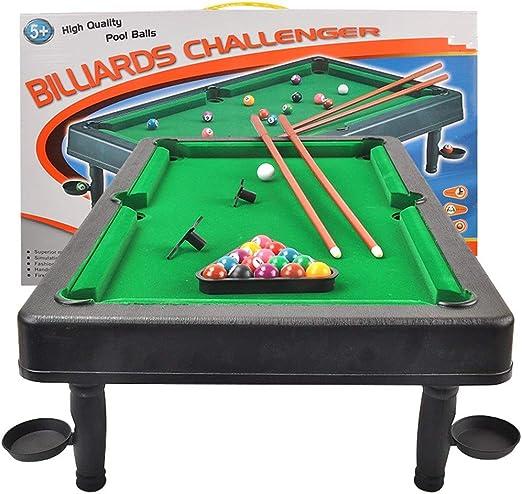 La tabla de billar Con mini bolas de piscina Cue Sticks mesa de ...