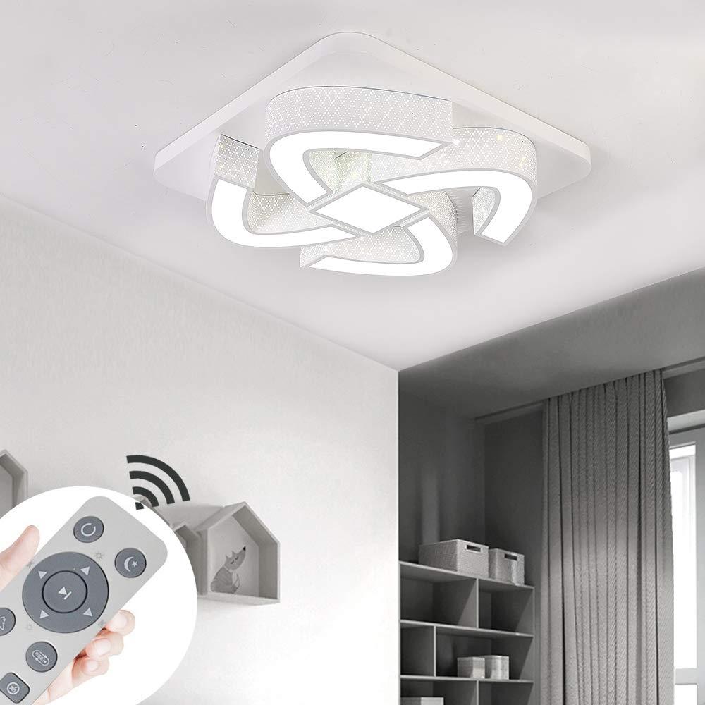 COOSNUG 54W Dimmbar Ultraslim LED Deckenleuchte Modern Deckenlampe Schlafzimmer K/üche Flur Wohnzimmer Lampe 3000-6500K