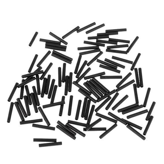 100 Stück Angeln Klemm Hülsen Verbindung Clip Haken Schnur Sicher