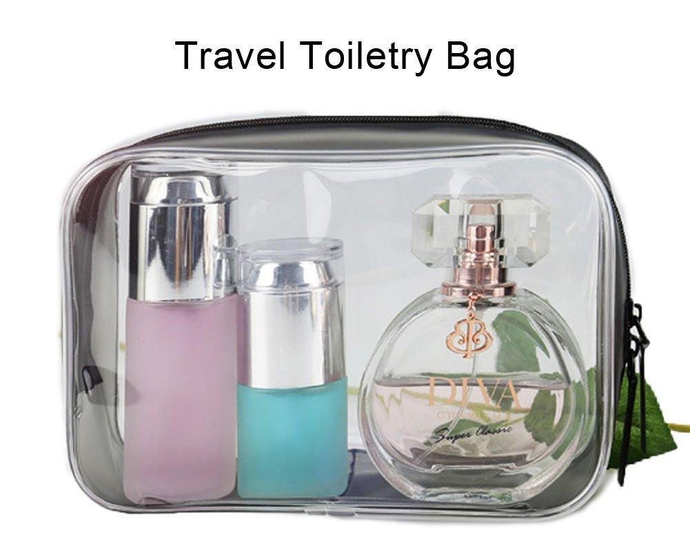 TSA aprobado bolsa de viaje de viaje claro bolsa de cuarzo con cremallera de la aerolínea de llevar en bolsa compatible (negro): Amazon.es: Belleza