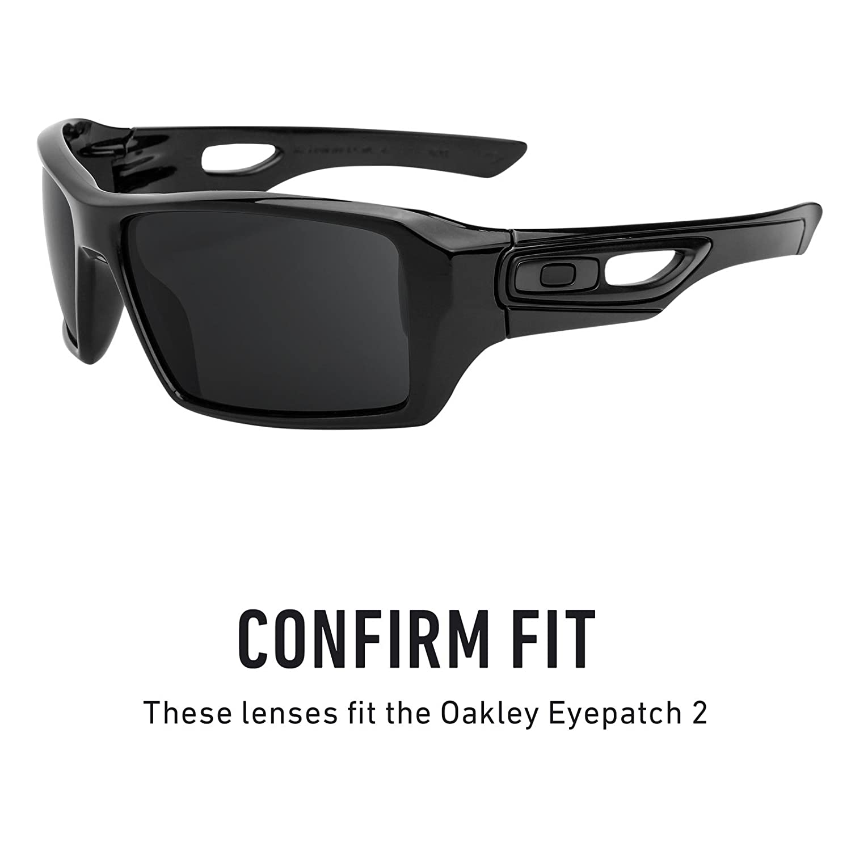 e658ad4e8a Amazon.com  Revant Polarized Replacement Lenses for Oakley Eyepatch 2 Elite  Black Chrome MirrorShield  Sports   Outdoors