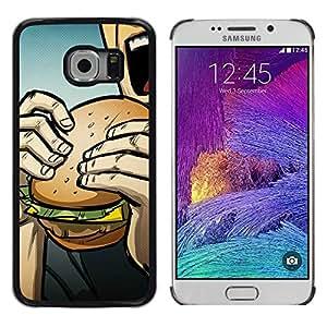 // PHONE CASE GIFT // Duro Estuche protector PC Cáscara Plástico Carcasa Funda Hard Protective Case for Samsung Galaxy S6 EDGE / Pop Art Burger /