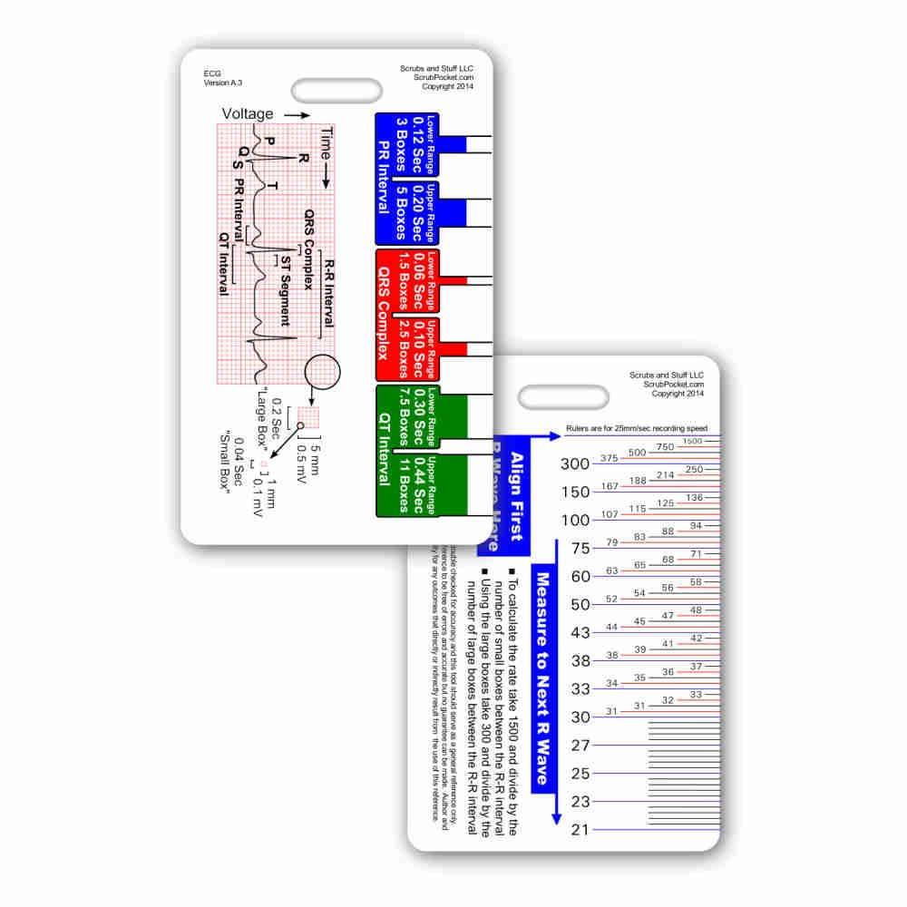graphic relating to Printable Ekg Strips named : EKG Ruler Vertical Badge Identification Card Pocket