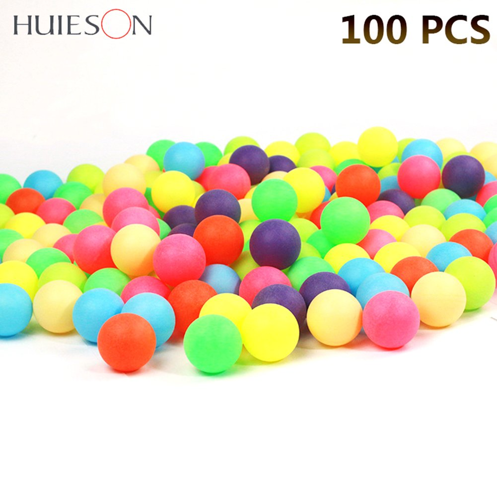 prom-near 100個40 mm 2.4 G Colored Ping Pong Balls Entertainmentテーブルテニスボール混合色のゲームと広告 B07BRTBC85