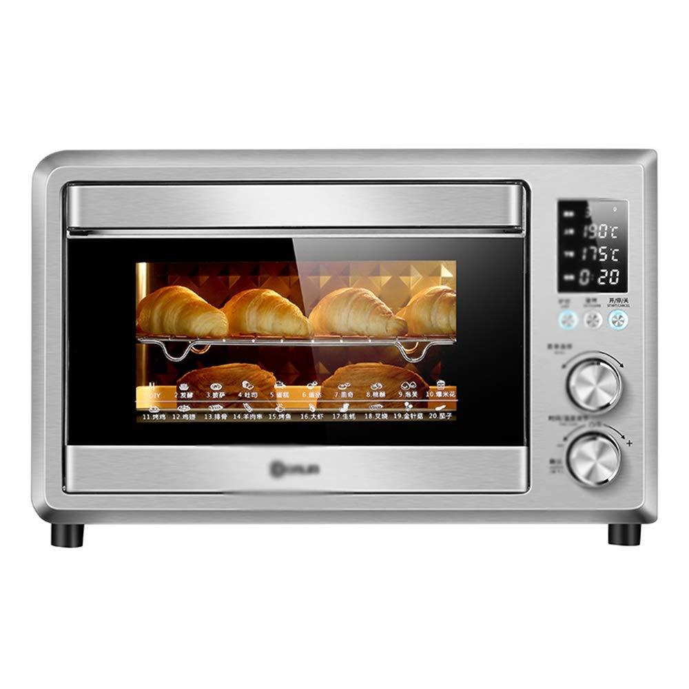 NZNB ミニオーブン電気オーブン家庭用電気オーブン6本のチューブ上下に加熱独立した温度制御エナメルライナーミニオーブンキッチン電気オーブン - オーブントースター   B07R457QT5