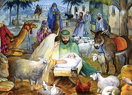 Newborn Child Religious Christmas Cards - Box of 15