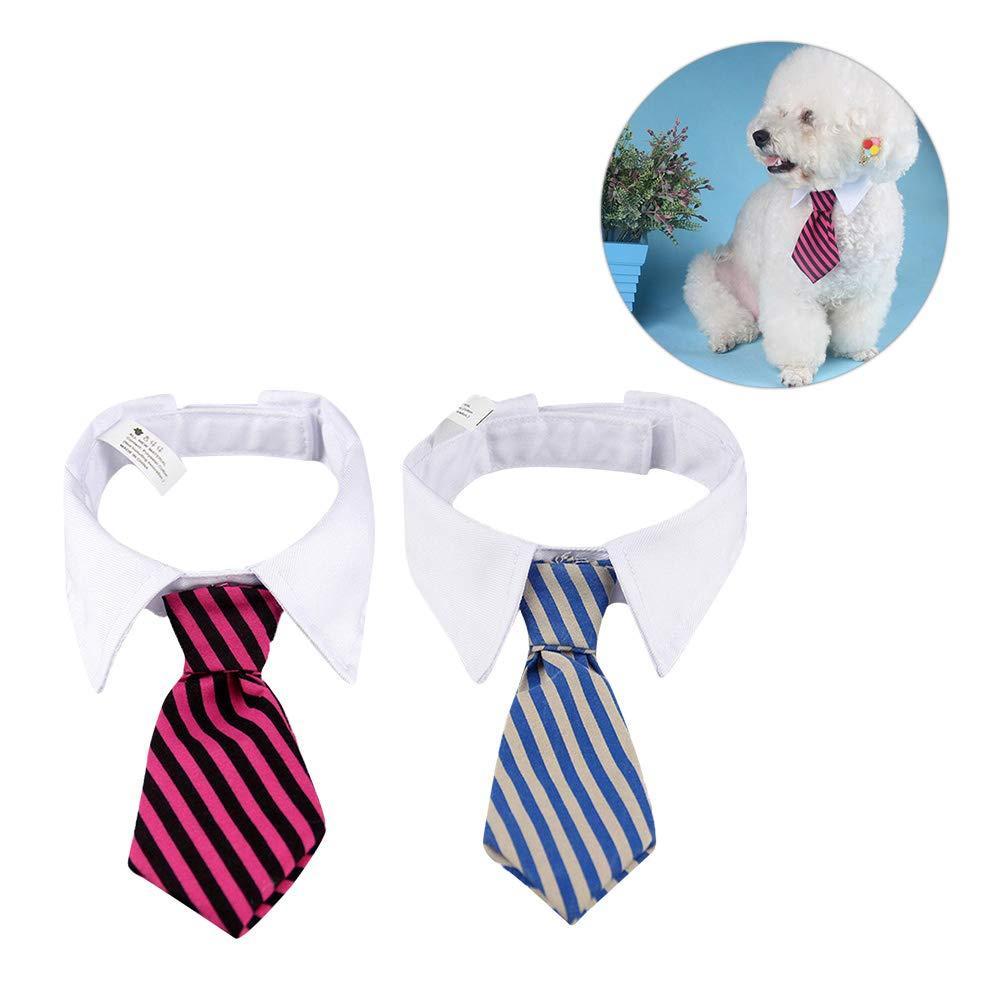 Toyvian 2pcs Mascotas Perro Gato Corbatas Cuello Ajustable Corbata ...
