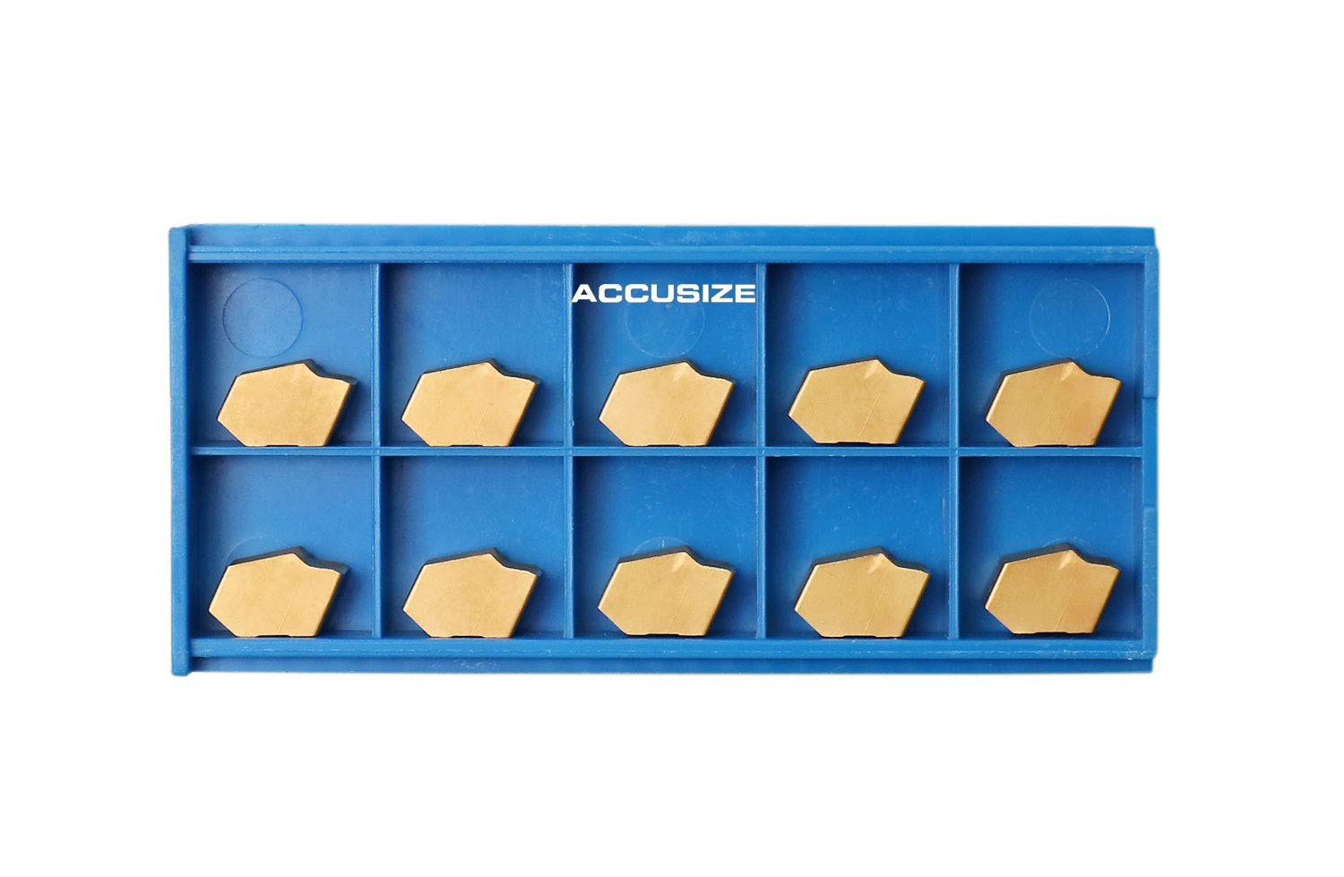 2403-2007x10 Accusize Industrial Tools Gtn-6 Carbide Inserts Tin Coated Width 0.250 Inch 10 Pcs//Box Fit for Cut-Off Blade Ncih32-6
