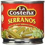 #7: La Costena Serrano Pepper, 12 Ounce (Pack of 12)