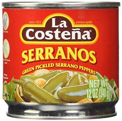 La Costena Serrano Pepper, 12 Ounce (Pack of 12) ()