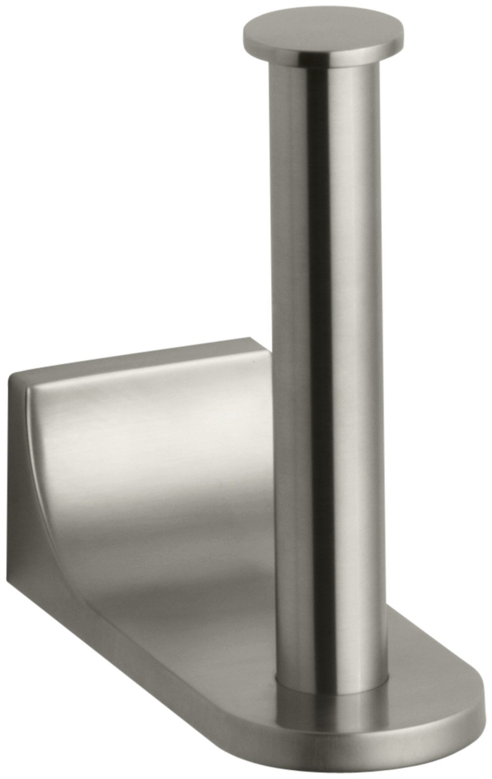 Kohler K-11583-BN Loure Vertical Toilet Tissue Holder, Vibrant Brushed Nickel