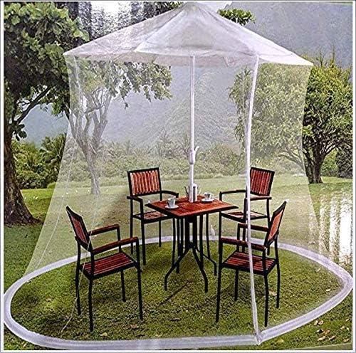 パラソル、屋外ガーデン傘テーブルスクリーンパティオ傘蚊帳のHYLH蚊帳は、ジッパーの開口部を備えた防水性で、蚊からの保護に役立ちます傘とパティオテーブル