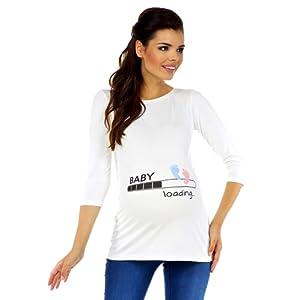 Zeta Ville Maternité - Tee shirt de grossesse motif humour imprimé - femme 549c