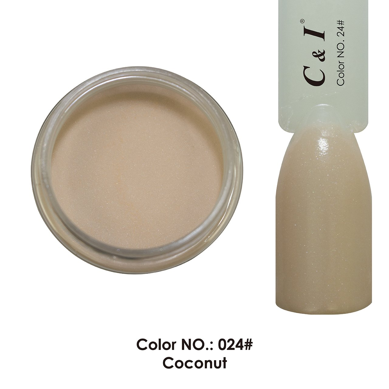 C & I Dipping Powder Color No.024 Coconut Naked Color System Fulei Trading