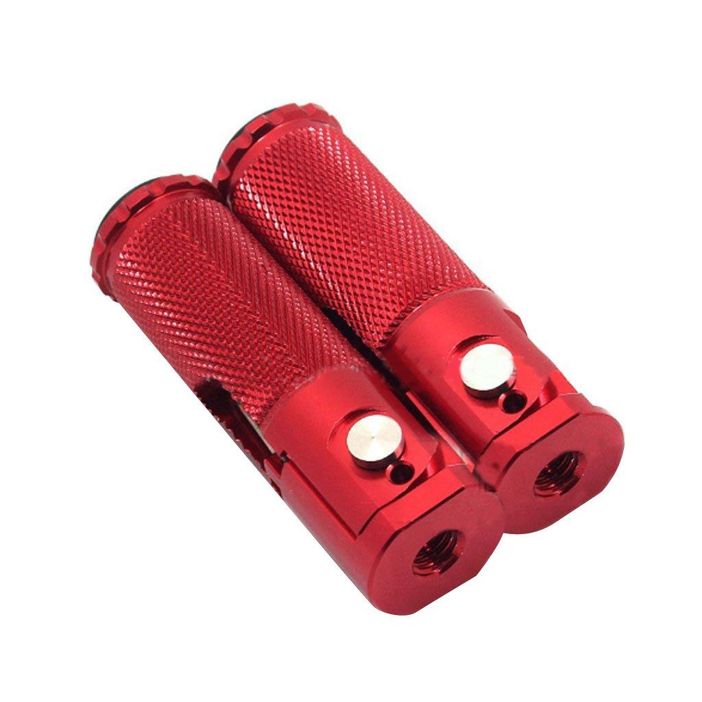 Nero MagiDeal Coppia CNC Piede Poggiapiedi Moto Pedana Pioli Pedali Pieghevoli