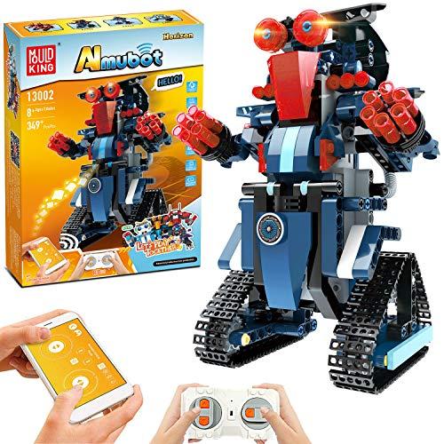 Smart Building Block Robot Toy, Educational Remote Control RC STEM Robot Toys Kit for Kids, DIY Rechargeable Robotics…