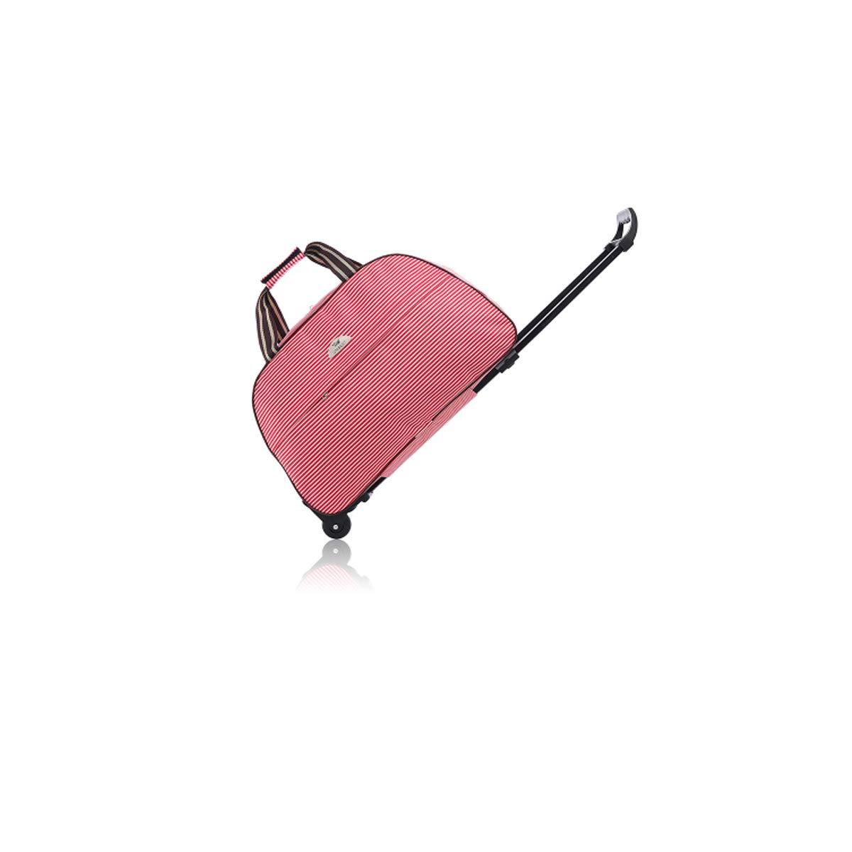 Color : Pink Stripes, Size : 24 Suitcase,Handbag 20 inches Travel case Soft Bag Travel Storage Bag Bahaowenjuguan Trolley case