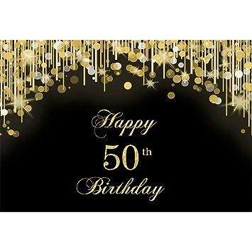 Cassisy 1,5x1m Vinilo Telon de Fondo 50 cumpleaños telón de Fondo Lentejuelas Purpurina Fiesta de cumpleaños Fondos para Fotografia Party bebé ...