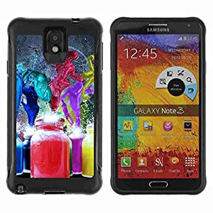 A-type Arte & diseño Anti-Slip Shockproof TPU Fundas Cover Cubre Case para Samsung Galaxy Note 3 III / N9000 / N9005 ( Abstract Paint Splash art )
