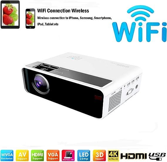 Amazon.com: SOTEFE Mini proyector LED portátil 7000 lúmenes ...