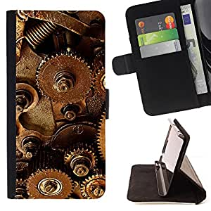 DEVIL CASE - FOR HTC One M8 - Mechanism Technology Instrument Inside Art - Style PU Leather Case Wallet Flip Stand Flap Closure Cover