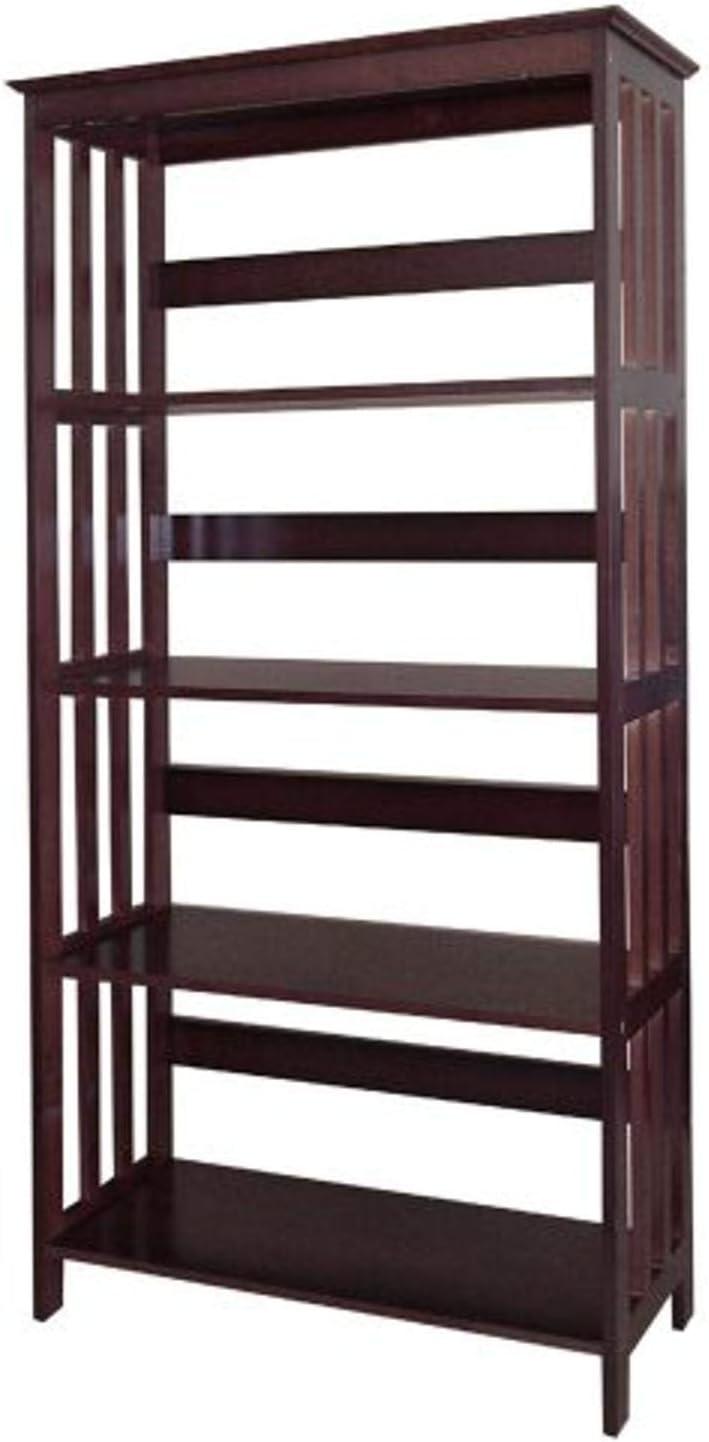 B0019CFNBO ORE International 4 Tier Bookshelves - Espresso 61jTmpar-uL