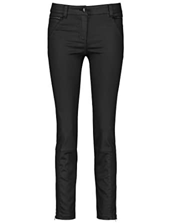 Gerry Weber Damen Hose Jeans verkürzt Beschichtete Jeans Best4me Skinny   Amazon.de  Bekleidung ae4068e623