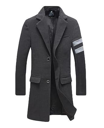 YiJee Herren Langer Mantel Reverskragen Jacke Übergröße Wintermantel:  Amazon.de: Bekleidung