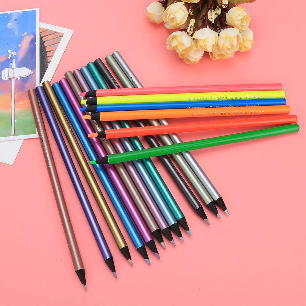 18 Colors Premium Coloring Pencils Round Handle Holder Student Stationery Painting Supplies Great For Coloring Books Colored Pencils